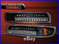 00-06 Suburban Tahoe 99-02 Silverado Led Bumper Lights Black