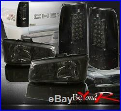 03 04 05 06 Silverado 1500 2500 Hd Head Bumper Turn Signal Lights + Tail Lamps