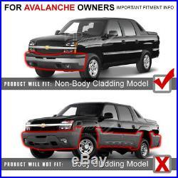 03-06 Chevy Silverado Avalanche 1500 2500 3500 Black 4PC Headlight Signal Lamp