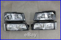 03-06 Chevy Silverado Truck 1500 HD2500 3500 Headlights +Turn Signal Black Clear