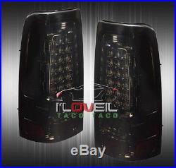 03-06 Sierra Silverado Direct Replacement Full Led Brake Tail Lights Lamps Smoke