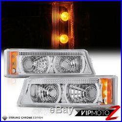 03-06 Silverado 3500HD New Set Headlights Turn Signal Parking Bumper Lights L+R