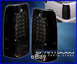 03-06 Silverado Sierra Drive Stop Brake Led Tail Lights Lamps Assembly Unit Set
