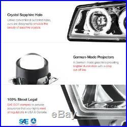03-06 Silverado Turn signal headlights LED Angel Eyes Dual Halo Ultra Bright
