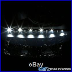 03-07 Chevy Silverado Avalanche Black LED DRL 2in1 Smoke Projector Headlights