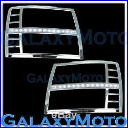 07-13 Silverado Chrome Headlight Trim+Day time Running LED+Turn Signal Cover