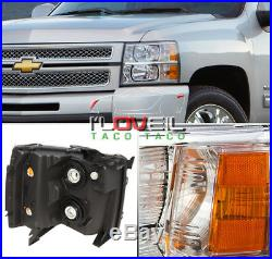 07-13 Silverado Truck 2500Hd 3500Hd Replacement Assembly Chrome Head Lights Lamp