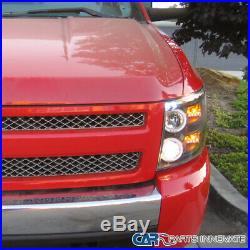 07-14 Chevy Silverado 1500 2500HD 3500HD Pickup Black Halo Projector Headlights