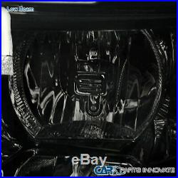 07-14 Chevy Silverado 1500 2500 3500 Euro Replacement Smoke Lens Headlights Pair
