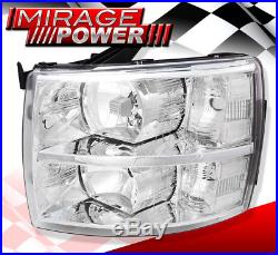 07-14 Silverado 1500 2500 3500 Head Lights Lamps Direct Replacement Lh Rh Clear