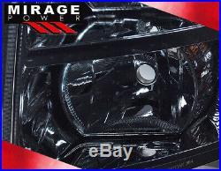 07-2013 Chevy Silverado Smoked Lens 1pc Head Lights Lamps + Turn Signal Pair Set