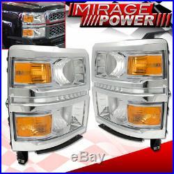 14 15 Silverado 1500 Chrome LED Headlight 3rd Brake Cargo Light 4x4 Fog Lamp