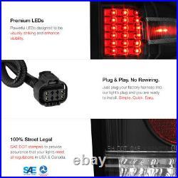 14-18 Chevy Silverado 1500/15-18 Sierra 2500 3500 HD Black LED Tail Brake Light