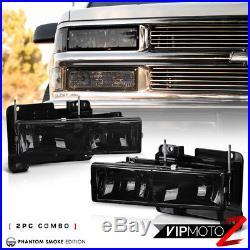 1994-1998 Chevy Silverado Suburban Tahoe C10 8PC Corner Bumper Headlights Lamps