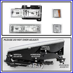 1994-1998 Chevy Silverado Tahoe Suburban Bumper+Headlights+Signal Corner Lights