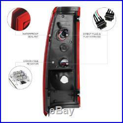 1999 2000 2001 2002 Silverado Z71 Euro LED Chrome Headlight Red Brake Tail Light