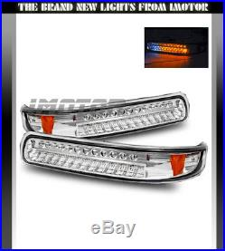 1999-2002 Chevy Silverado/00-06 Suburban Tahoe Chrome LED Bumper Signal Lights