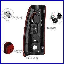 1999-2002 Chevy Silverado 99-06 Sierra Dark Red OLED NEON TUBE LED Tail Lights