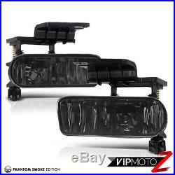 1999-2002 Chevy Silverado Smoke Fog Bumper Headlights LED Black Tail Lights Set