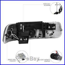 1999-2002 Chevy Silverado Smoke LED Headlights Bumper Signal Back Rear Taillight