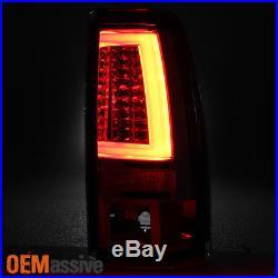 1999-2002 Silverado Sierra 1500 2500HD Red LED Tube Tail Lights + 3rd Brake Lamp