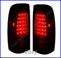 1999-2002 Silverado Sierra 1500 Red Lens New Generation LED Tail Lights Pair