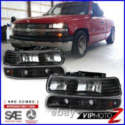 2000-2006 Chevy Suburban 1500 2500 Tahoe Turn Signal Bumper Headlights +Fog Lamp