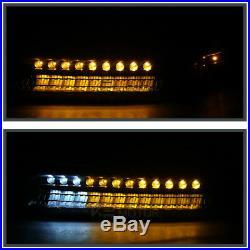 2000-2006 Tahoe 1999-2002 Silverado Black Projector Headlights+LED Bumper Lamps