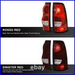 2003-2006 Chevy Silverado DARK RED Brake Tail Lights Lamps +Wiring +Bulbs