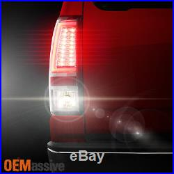 2003-2006 Chevy Silverado GMC Sierra 1500 2500HD 3500 Clear LED Tube Tail Lights