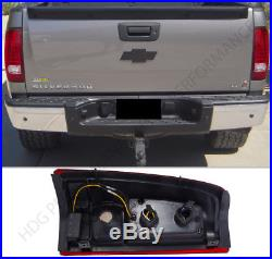 2003-2006 GMC Sierra 1500 Red Lens New Generation LED Tail Lights Pair