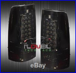 2003-2006 Gmc Sierra Smoked Led Rear Tail Lights Left+Right Replacement Lamps