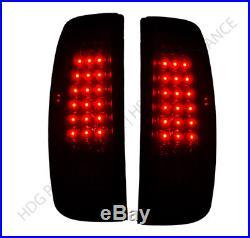 2003-2006 Silverado 1500 Red Lens New Generation LED Tail Lights Pair