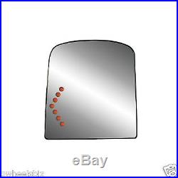 2003-2007 HEATED TURN SIGNAL TOW MIRROR TOP GLASS with BACKING DRIVER/ LEFT SIDE