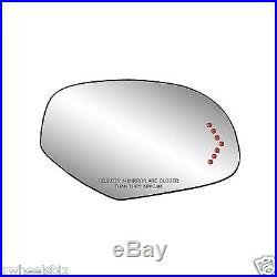 2007-2013 2014 HEATED TURN SIGNAL MIRROR GLASS with BACKING PASSENGER/ RIGHT SIDE