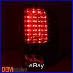 2007-2013 Chevy Silverado 1500 2500 3500 LED Black Tail Lights + 3rd Brake Lamp
