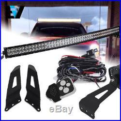 2007-2013 Chevy Silverado 1500/2500/3500 LED Light Bar + Upper Roof Bracket 50