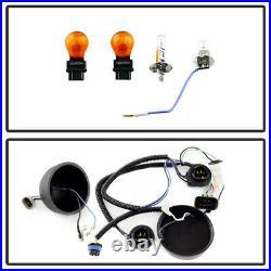 2007-2013 Chevy Silverado 1500 2500 3500 SMD DRL LED Halo Projector Headlights