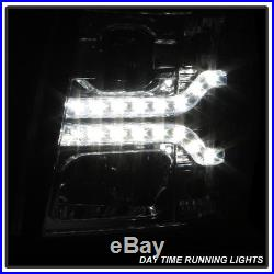 2007-2013 Chevy Silverado 1500 Dual LED Strip DRL Projector Headlamps Left+Right