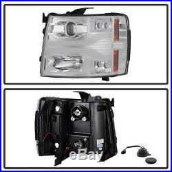 2007-2013 Chevy Silverado 1500 LED DRL Light Tube Projector Headlights Headlamps