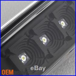 2007-2013 Silverado 1500 2500 3500 LED Black Tail Lights + LED 3rd Brake Light