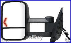 2007-2014 Chevy/ Gmc Power Heated Turn Signal Towing Mirror Driver/ Left Side