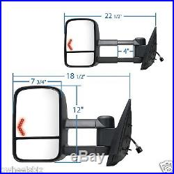 2007-2014 Chevy/ Gmc Power Heated Turn Signal Towing Mirror Driver/ Left Side Lh