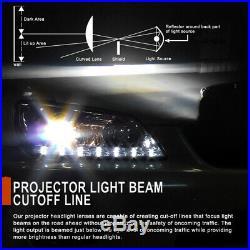 2007-2014 Chevy Silverado 1500 2500HD 3500HD LED DRL Tube Projector Headlights