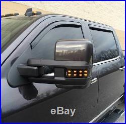 2014+ Chevrolet & GMC Smoked Tow Mirror lenses (GM, lights, turn signal)