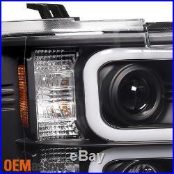 2015-2016 Chevy Silverado 2500 HD 3500 HD LED Tube Black Projector Headlights