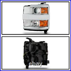 2015-2019 Chevy Silverado 2500HD 3500 HD Chrome Projector Headlights Headlamps