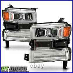 2019-2020 Chevy Silverado 1500 Chrome LED DRL Tube Sequential Signal Headlights