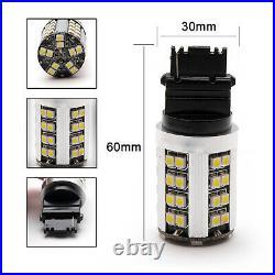 2PCS 3157 3156 LED Backup Reverse Turn Signal DRL Light Bulbs White Error Free