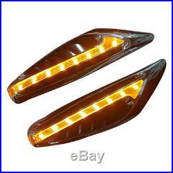 2Pcs 12V Yellow Blade Car LED Turn Signal Fender Side Lights Car Steering Light